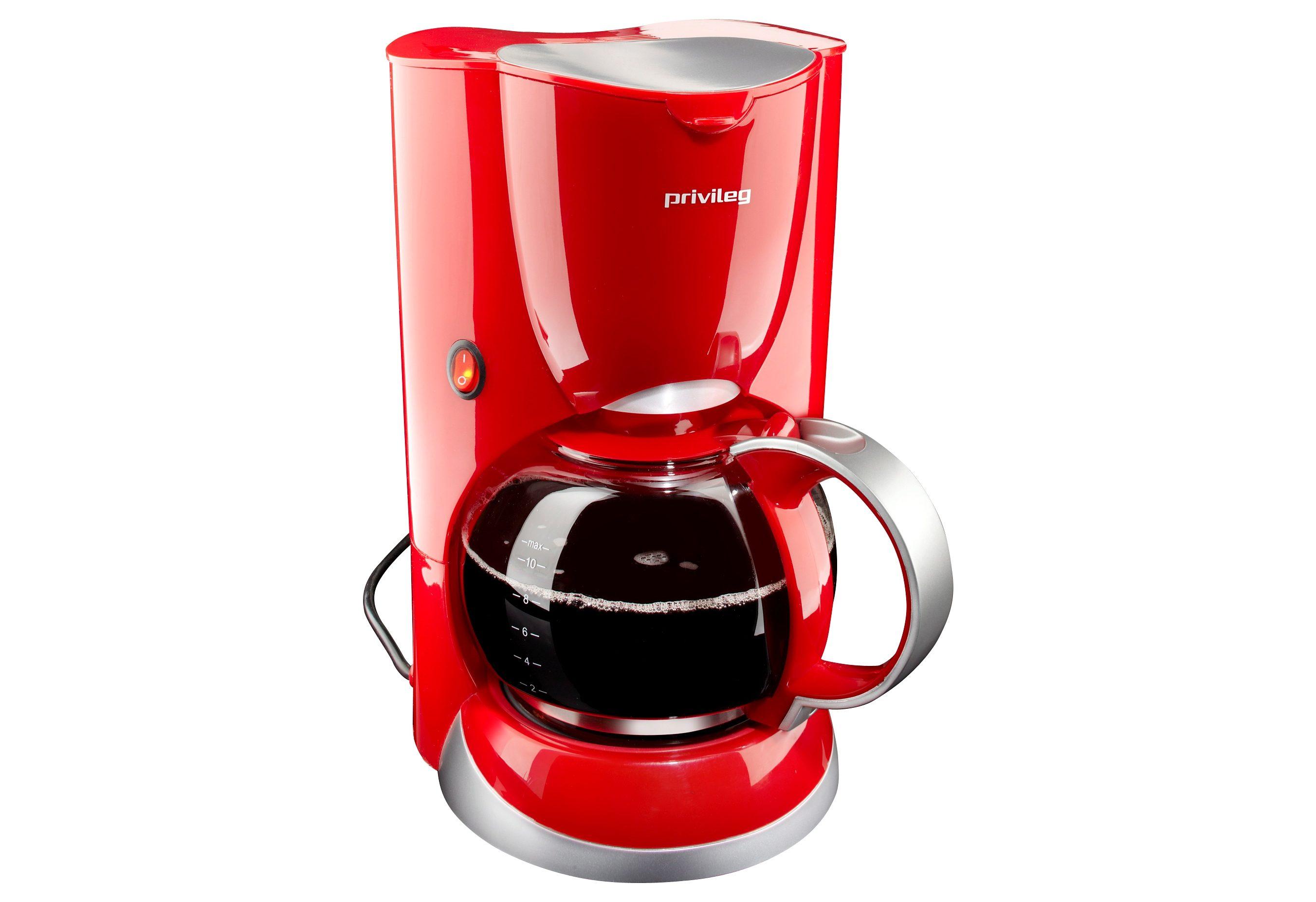 Privileg Filterkaffeemaschine Max. 1080 Watt, 1,37l Kaffeekanne, Papierfilter 1x4