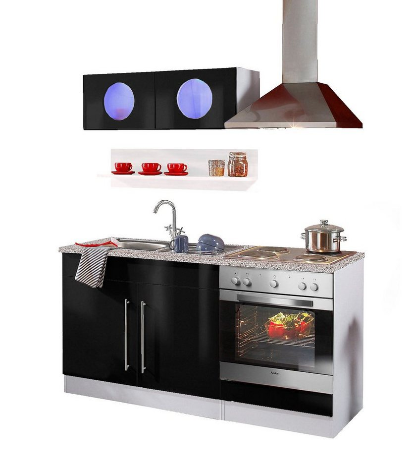 Küchenzeile »Keitum«, HELD MÖBEL, mit Elektrogeräten, Breit 160 cm ...