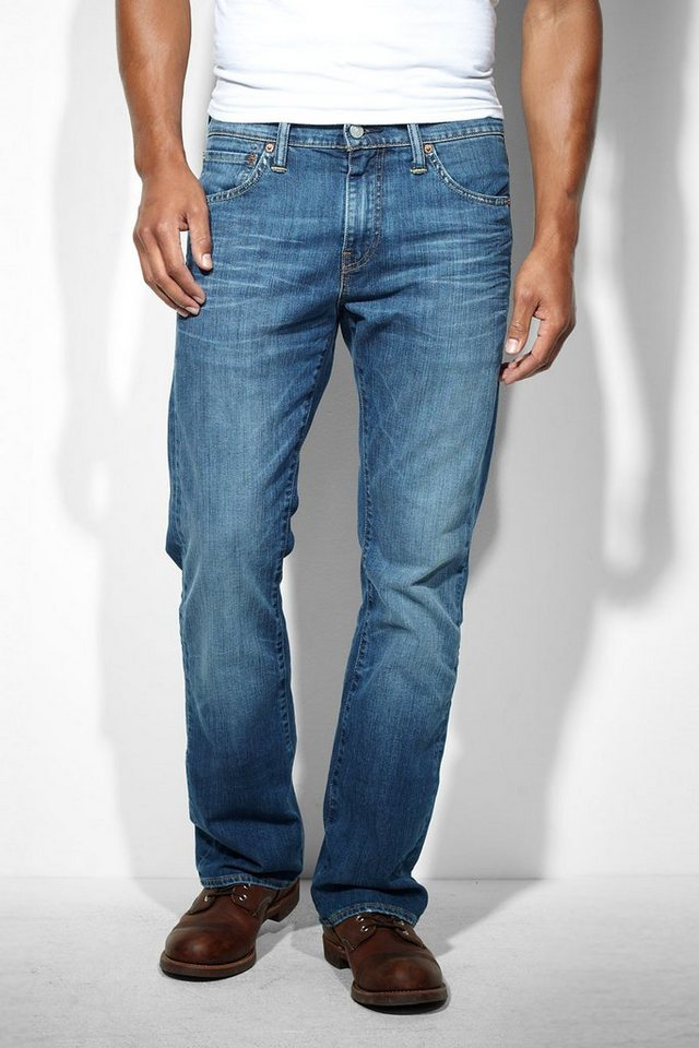 Levi's® Jeans »527 LOW BOOT CUT MOSTLY MID BLUE« in blau