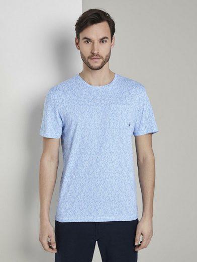 TOM TAILOR T-Shirt »T-Shirt mit Allover-Print«