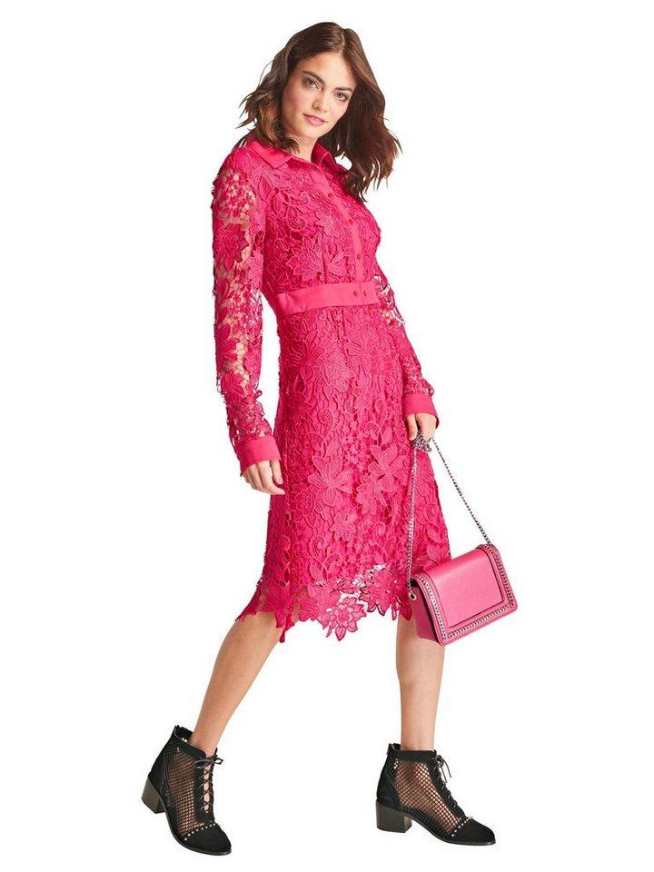Festtagsmode - RICK CARDONA by Heine Spitzenkleid »Spitzen Kleid« › rot  - Onlineshop OTTO