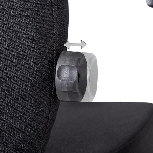 Amstyle Chefsessel »SPM1.426« Bürostuhl Stoff Schwarz ergonomischer Profi Schreibtischstuhl höhenverstellbar Chefsessel mit gebremsten Hartboden-Rollen Drehstuhl Büro Modern 120 kg