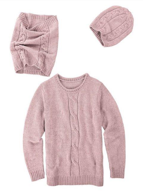 Dress In 3tlg. Set bestehend aus Pullover, Mütze und Loop   Accessoires > Schals & Tücher > Loops   Dress In