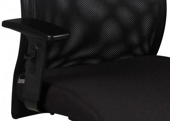 Amstyle Chefsessel »SPM1.275« Bürostuhl DAVID Bezug Stoff Schwarz Schreibtischstuhl Design Chefsessel Armlehne Drehstuhl Polsterung 120 kg