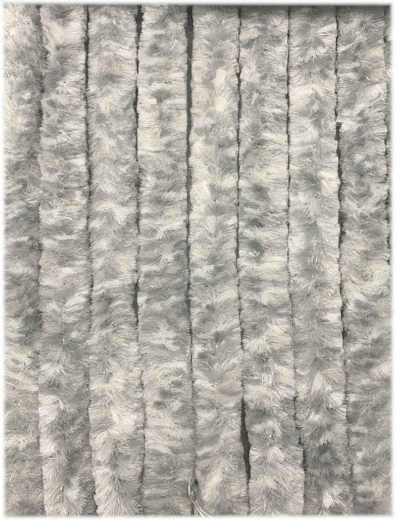 Türvorhang »Flauschvorhang aus Chenille 90 x 200 cm grau weiß«, Moritz, Hakenaufhängung (1 Stück)
