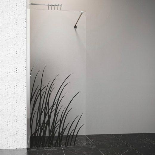 welltime by GEO Walk-in-Dusche, 80 cm, chrom