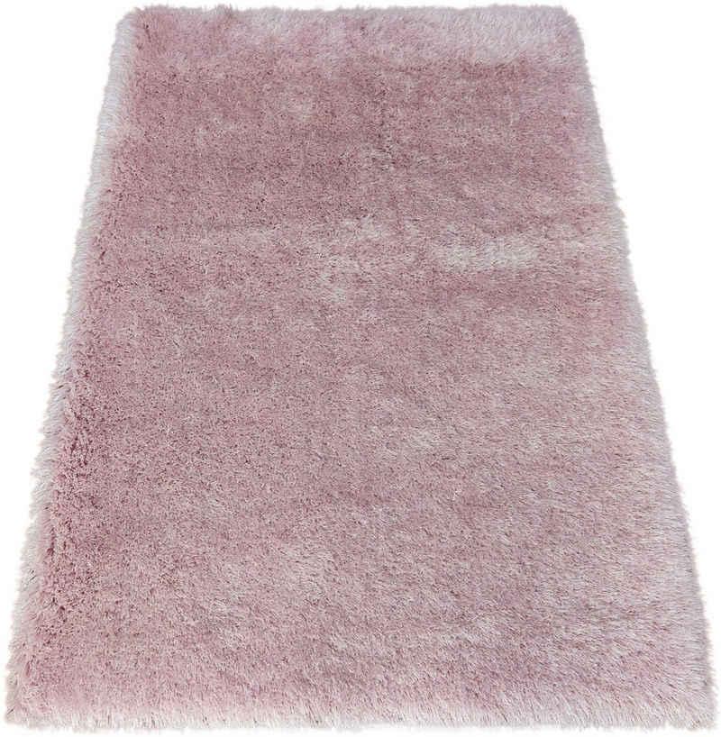 Hochflor-Teppich »Airis«, Bruno Banani, rechteckig, Höhe 65 mm, besonders weich durch Microfaser, Wohnzimmer