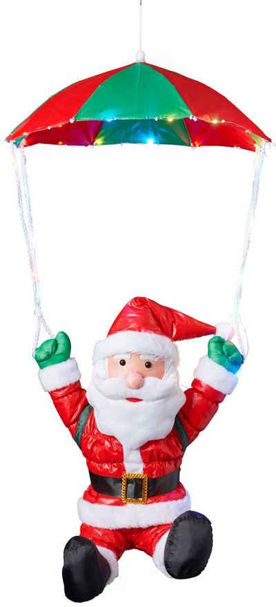 BONETTI LED Dekofigur »Weihnachtsmann mit Fallschirm«