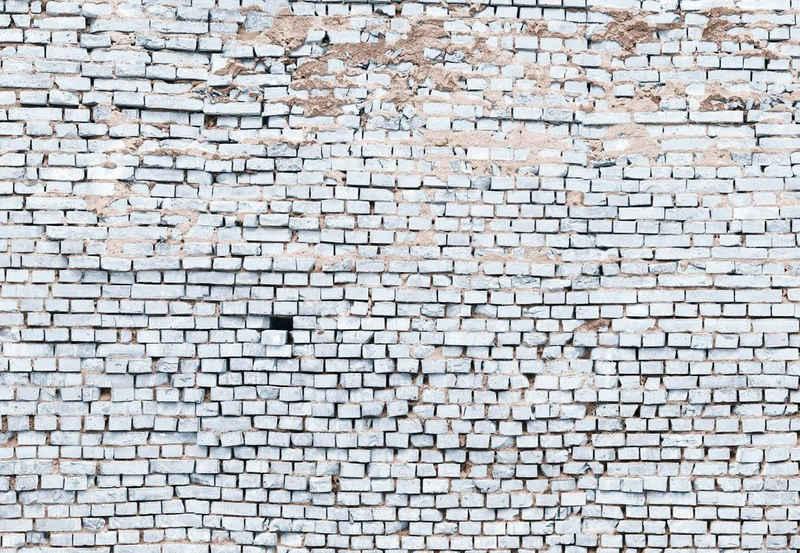 Komar Fototapete »White Brick«, glatt, bedruckt, 3D-Optik, Kunst, (Set), ausgezeichnet lichtbeständig