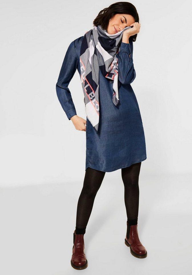 cecil -  Blusenkleid mit Kontrastnaht am Ausschnitt