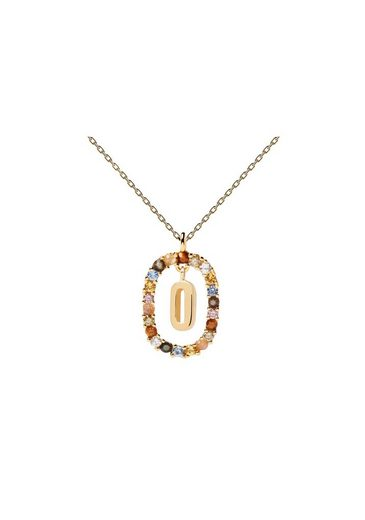 PDPAOLA Halsband »Buchstabenkette O«
