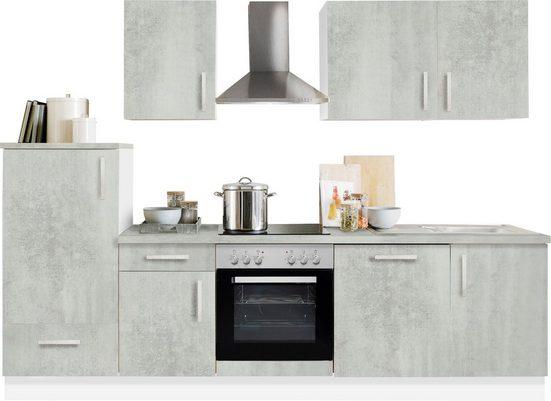 Menke Küchen Küchenzeile »White Premium«, Küchenzeile mit E-Geräten, Breite 280 cm