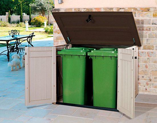 TEPRO Mülltonnenbox »Store It Out MAXI«, für 2x240 l aus Polyprpylen, BxTxH: 146x82x125 cm