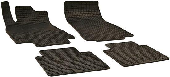 Walser Passform-Fußmatten (4 Stück), Mercedes A-Klasse Schrägheck, für Mercedes A-Klasse (Typ W169) BJ 2004 - 2012