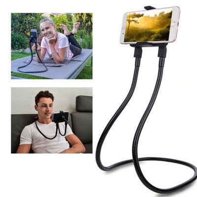 FLEXD-X »FLEXD-SMART« Handy-Halterung, (Handy-Halter Bett als Handy Stativ, Kopfstützen-Halterung, Nacken Handyhalterung Ständer, Facetime, Sport, Hüfte oder Selfie-Stick, zum streamen ohne Hände)