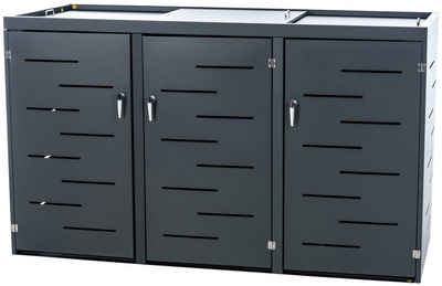 CLP Mülltonnenbox »Tanis«, Mülltonnenverkleidung aus Edelstahl Mülltonnenbox Unterstand 2-3 Mülltonnen bis 240 L