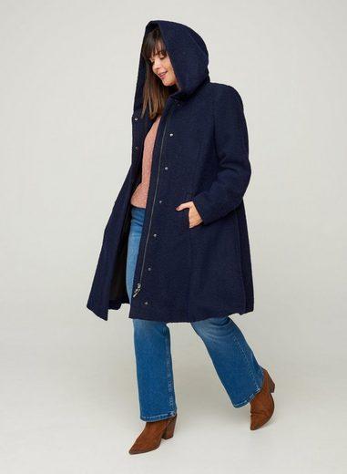 Zizzi Langjacke Damen Große Größen Mantel Jacke Kapuze Klassisch Wintermantel