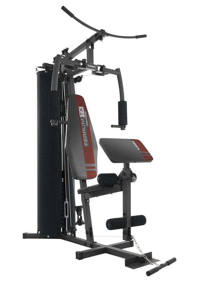 Fitness-Station, »FERRUM TX1«, Hammer in schwarz-silberfarben-rot