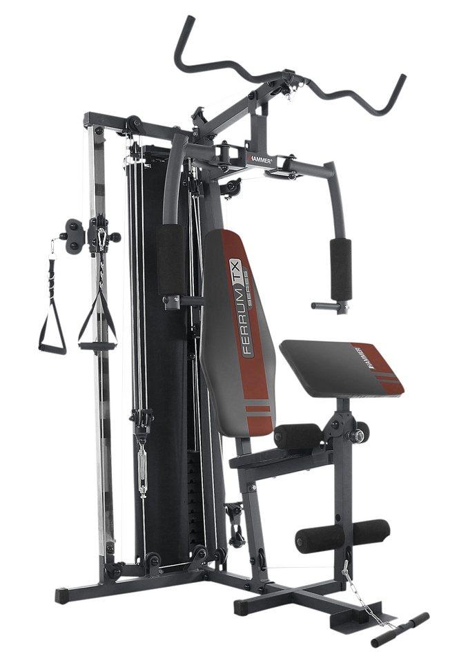 Fitness-Station, »FERRUM TX2«, Hammer in schwarz-silberfarben-rot