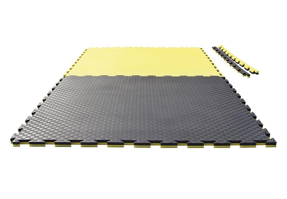 Wendematte, Ju-Sports, »Checker«, schwarz/gelb