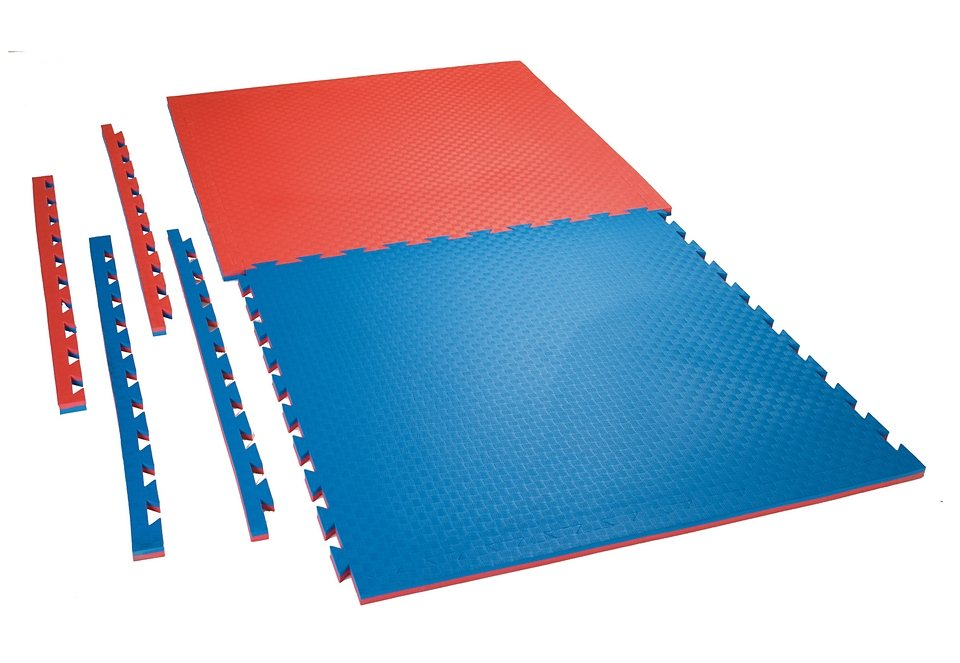 Wendematte, Ju-Sports, »Checker«, rot/blau