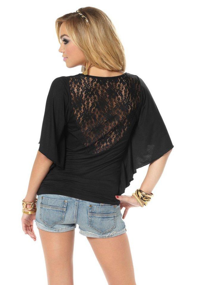 melrose rundhalsshirt mit spitzeneinsatz am r cken online kaufen otto. Black Bedroom Furniture Sets. Home Design Ideas