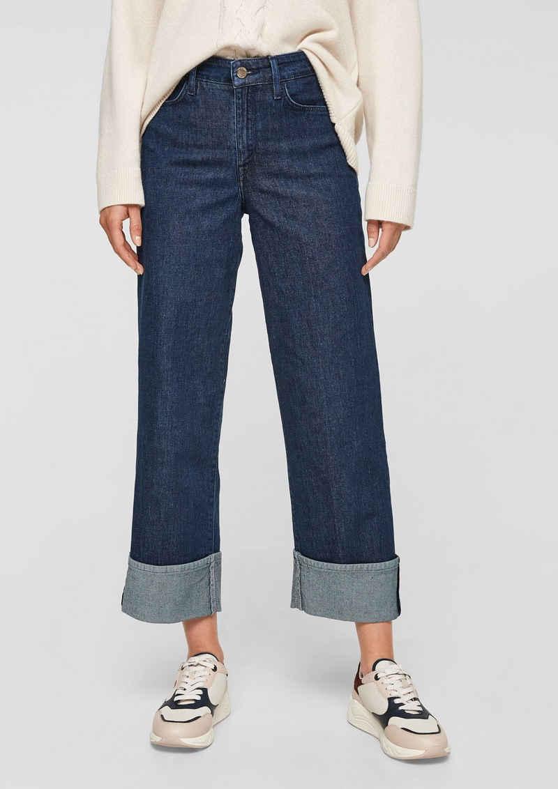 s.Oliver BLACK LABEL 7/8-Jeans »Regular: 7/8-Jeans mit Umschlag« Waschung