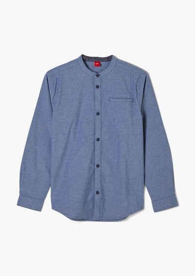 s.Oliver Langarmhemd »Hemd mit Stehkragen«