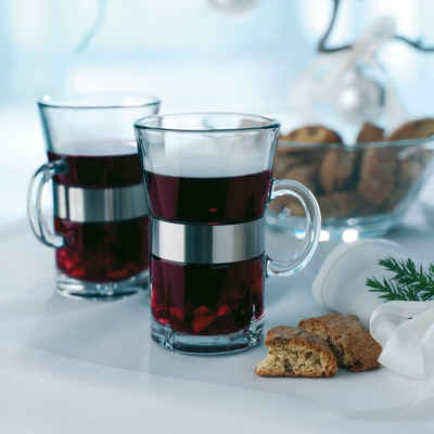 Rosendahl Thermoglas »Thermo Gläser HOT DRINK - 2er Set«, bleifreies Glas, Edelstahl