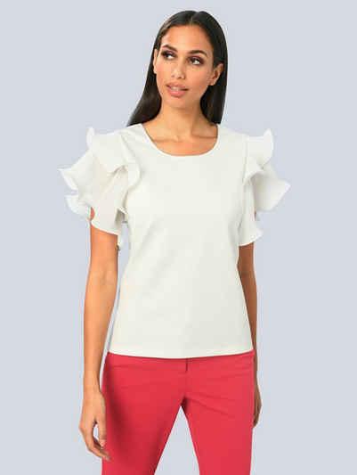 Alba Moda T-Shirt mit modischer Armlösung