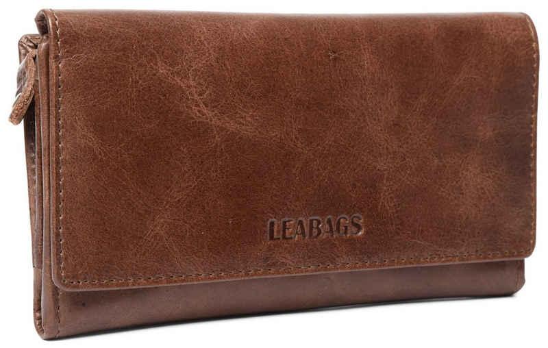 LEABAGS Geldbörse »Cleveland«, Geldbeutel aus echtem Büffel-Leder im Vintage Look - Crazy Vinkat 2