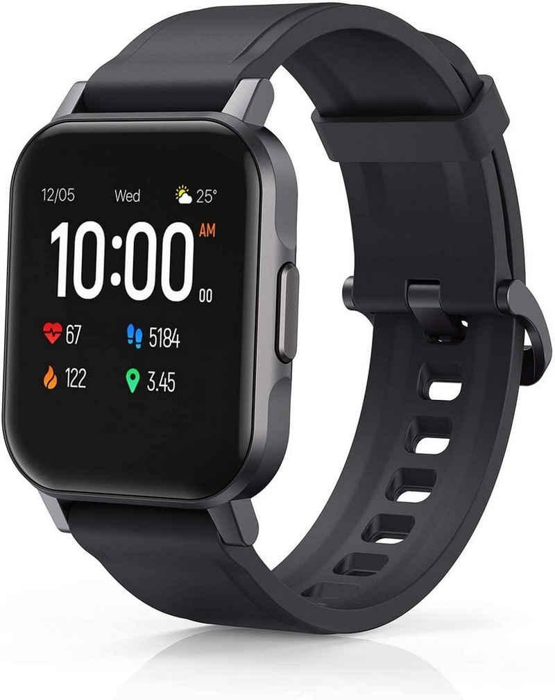 AUKEY LS02 Smartwatch, 1.4 Zoll Touch-Farbdisplay Fitness Armbanduhr mit Pulsuhr Fitness Tracker, IP68 Wasserdicht Fitness Tracker, für iOS und Android, Schwarz