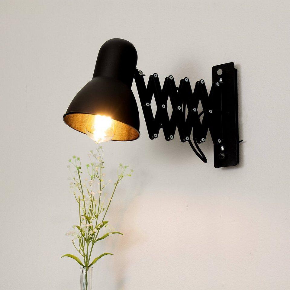 Licht Erlebnisse Wandleuchte »HARMONY Wandlampe Schwarz mit Schalter  ausziehbar Kinderzimmer Küche Lampe« online kaufen   OTTO