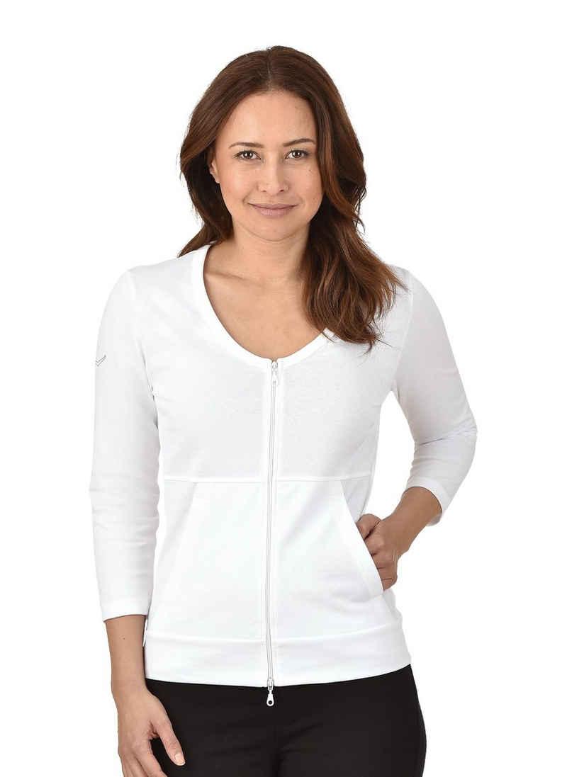 Trigema Jacke aus Baumwolle/Elastan