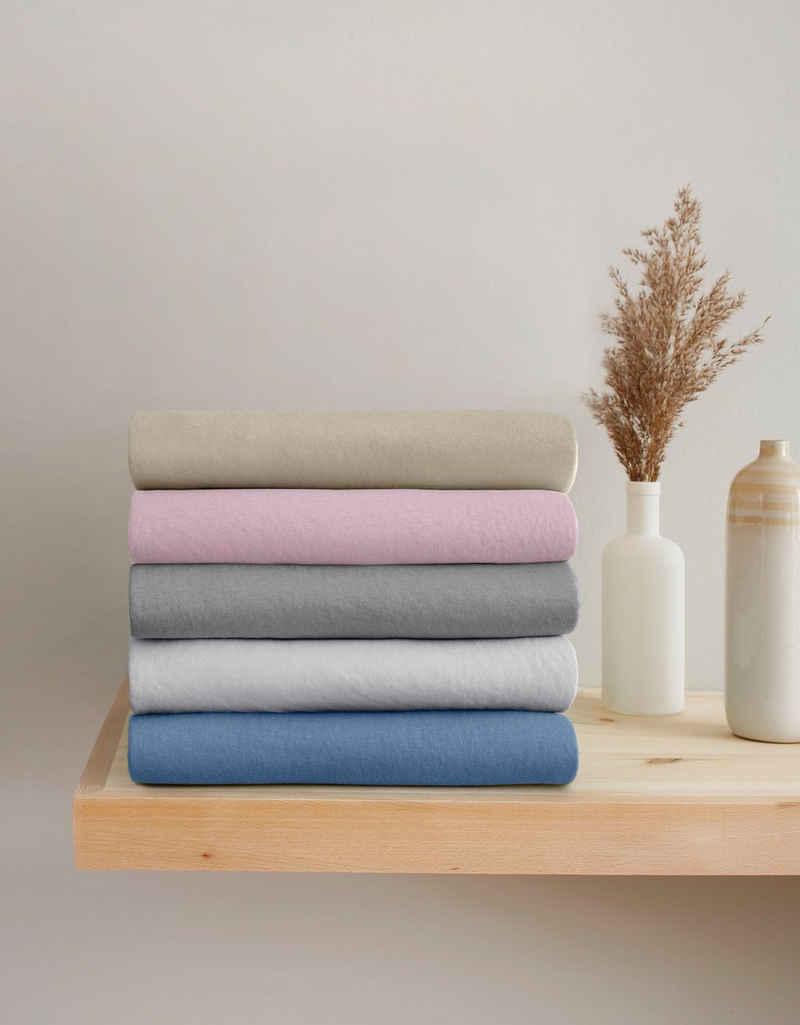 Spannbettlaken »Jannis«, OTTO products, Mako-Jersey aus zertifizierter Bio-Baumwolle mit Elasthan