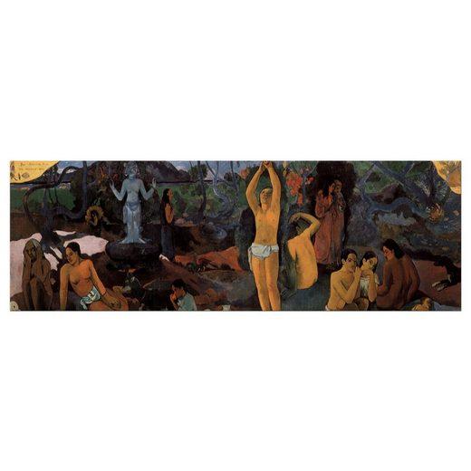Bilderdepot24 Leinwandbild, Leinwandbild - Paul Gauguin - Woher kommen wir Wer sind wir Wohin gehen wir