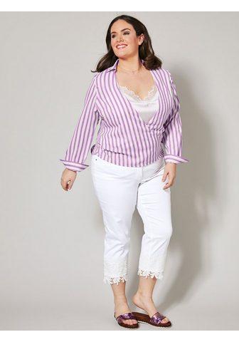 Sara Lindholm by HAPPYsize 2-in-1-Bluse dryžuota