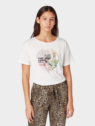 TOM TAILOR Denim T-Shirt »Oversized T-Shirt mit Fotoprint«