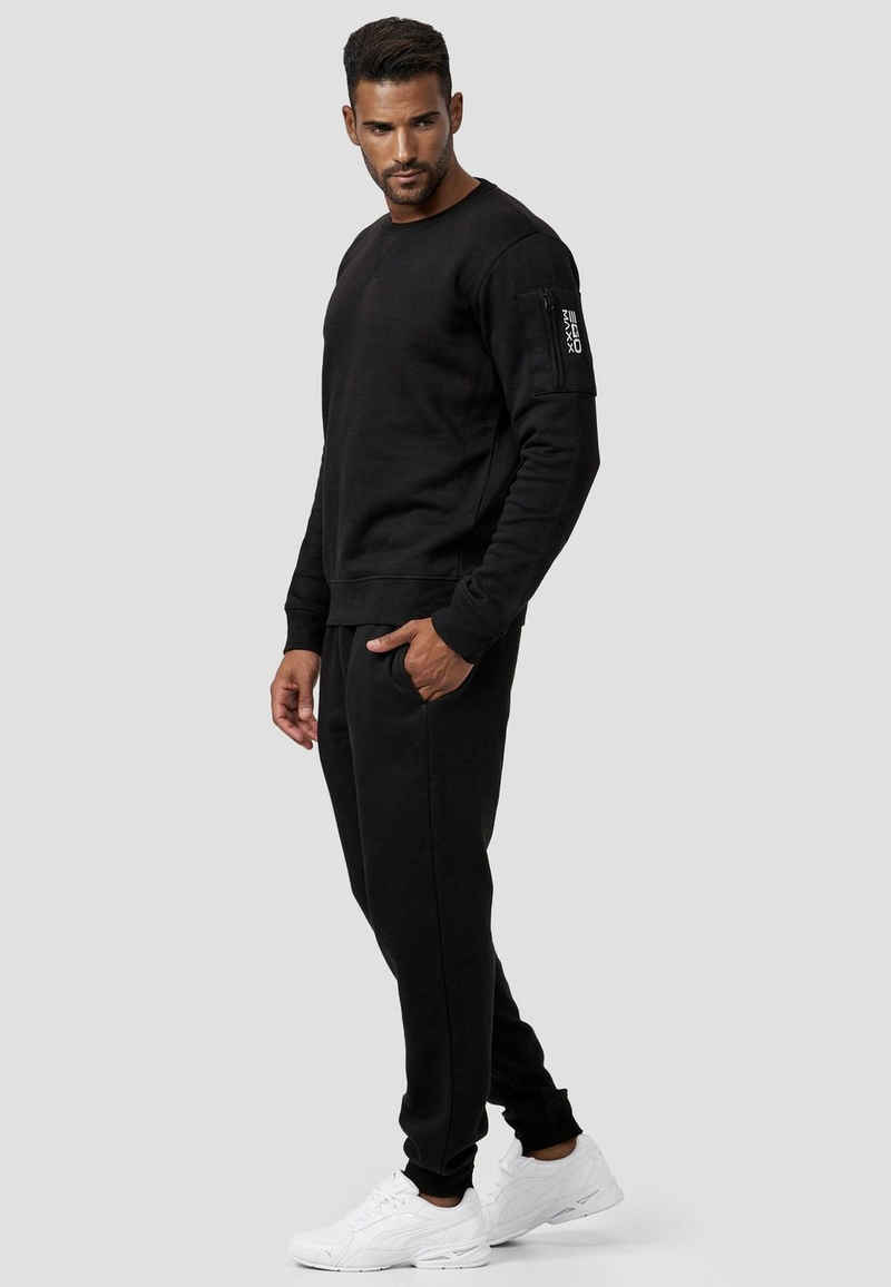 Egomaxx Jogginganzug »3695« (2-tlg), Basic Jogginganzug Hosen & Sweater Set EGO Trainingsanzug ohne Kapuze