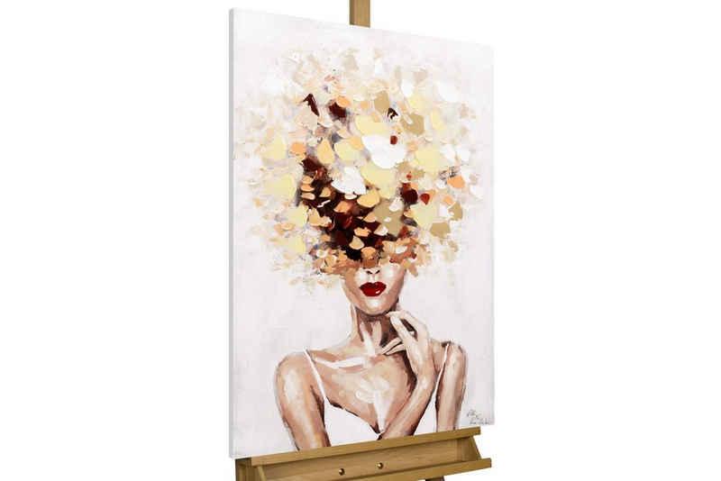 KUNSTLOFT Gemälde »Autumn's Muse«, handgemaltes Bild auf Leinwand