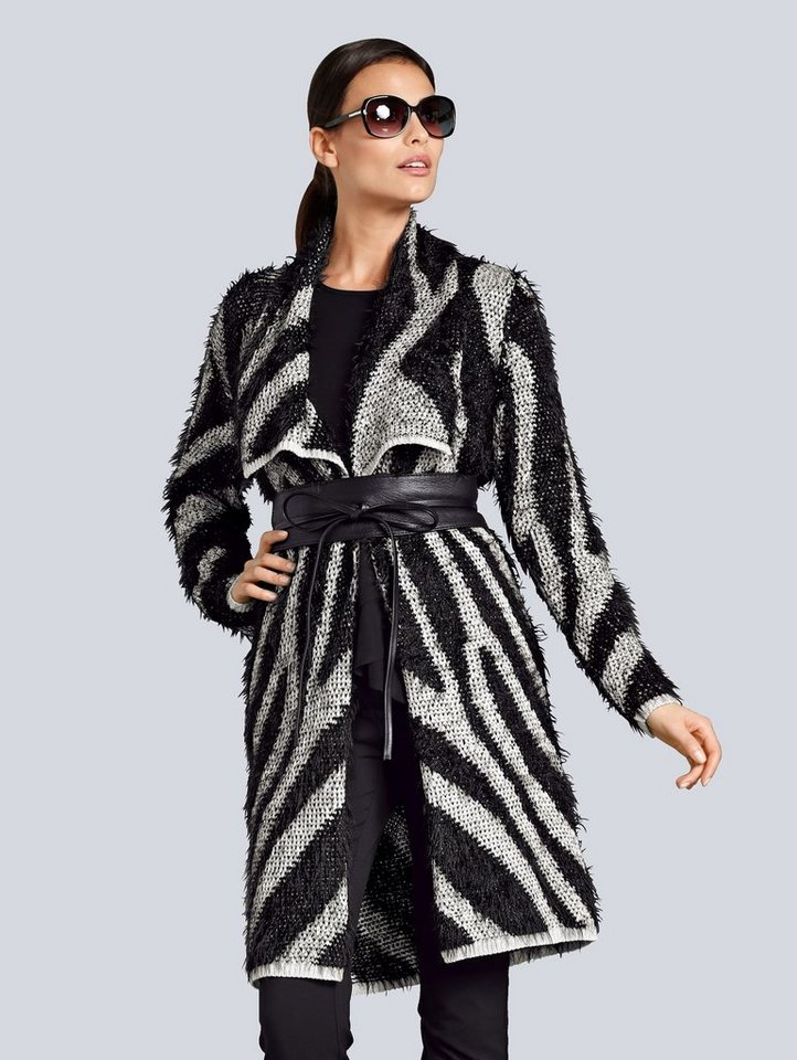 alba moda -  Strickjacke mit modischem Effektgarn