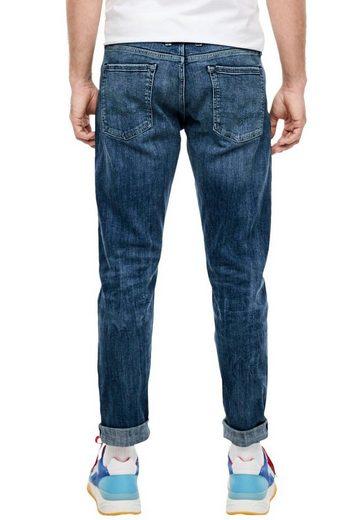s.Oliver 5-Pocket-Jeans »KEITH« mit authentischer Waschung