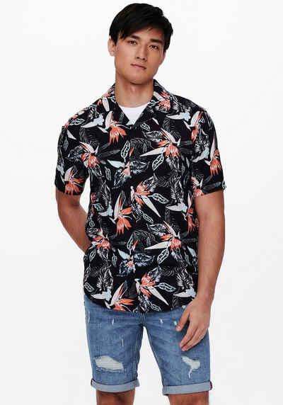 ONLY & SONS Hawaiihemd »KLOPP LIFE«