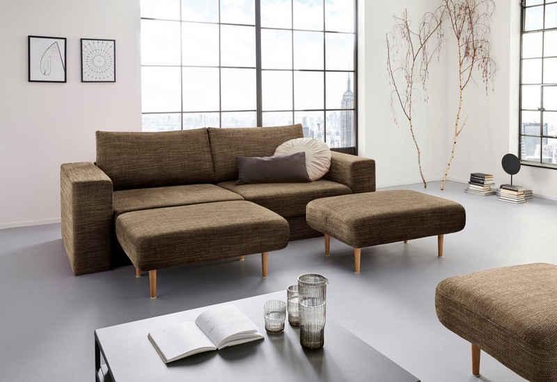 LOOKS by Wolfgang Joop 4-Sitzer »Looksv«, Verwandlungssofa: aus Sofa wird Sofa mit 2 Hockern