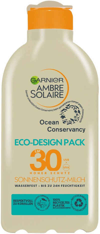 GARNIER Sonnenschutzmilch »Ambre Solaire«, Eco-Design Pack