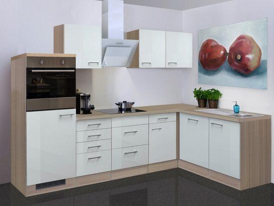 Küchenzeile mit E-Geräten »Abaco«, Gesamtbreite 280x170 cm