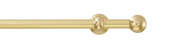 Gardinenstange »Andrea Kugel kurz«, GARESA, Ø 20 mm, 1-läufig, Wunschmaßlänge, inkl. je10 cm einen Ring + FH, Träger, Endknöpfe