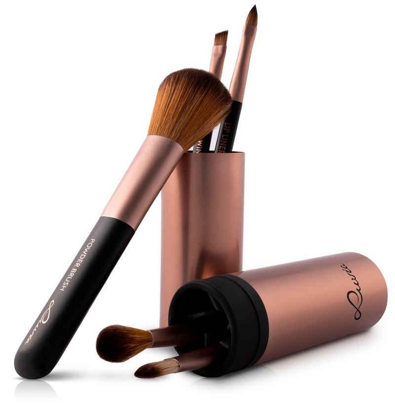 Luvia Cosmetics Kosmetikpinsel-Set »Travel Tube«, 5 tlg.