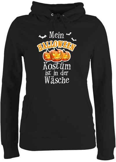 Shirtracer Hoodie »Mein Halloween Kostüm ist in der Wäsche - Halloween - Damen Premium Kapuzenpullover«