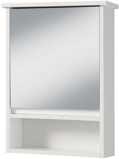PHOENIX MÖBEL Spiegelschrank »Luzern«, Spiegelschrank mit Tür und 3 Ablagen